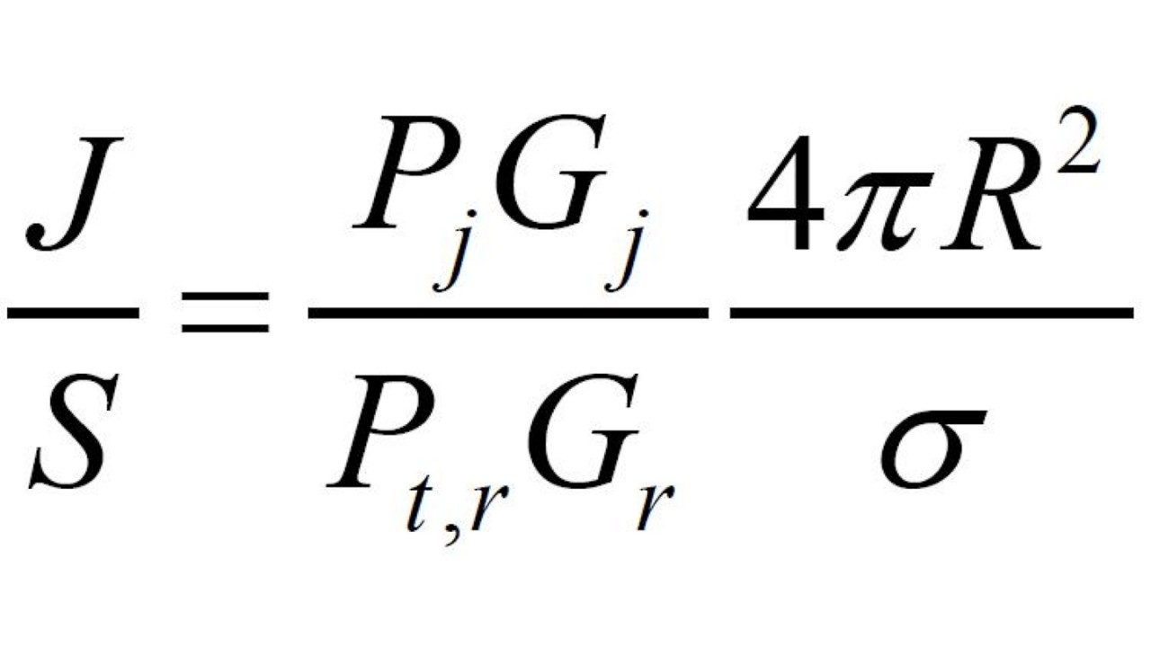 J/S equation for a deceptive, selfprotection jamming against coherent radar