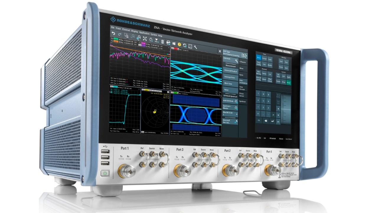 R&S®ZNA vector network analyzer, 4-port model.