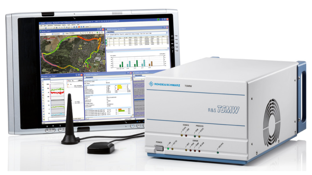 The comprehensive drive test solution from Rohde&Schwarz supports all major cellular standards