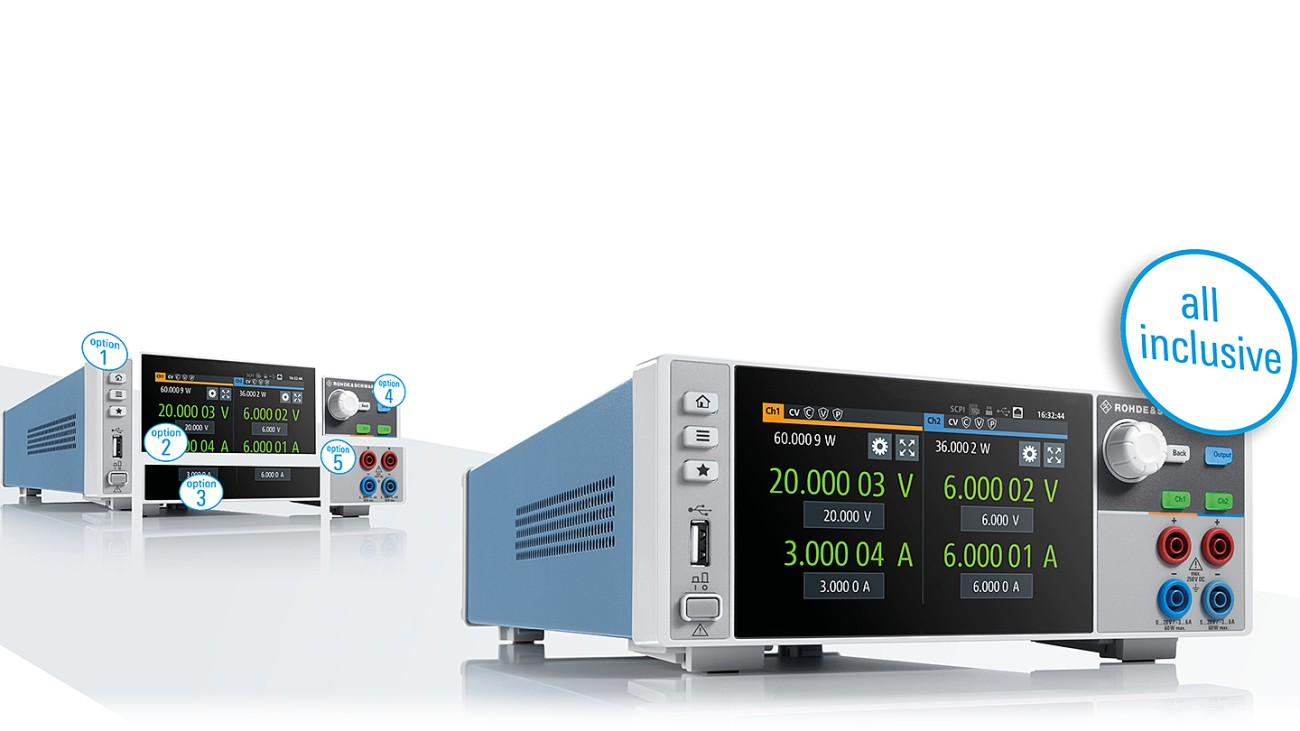 Everything you need from R&S®Power Supplies & Power Analyzers