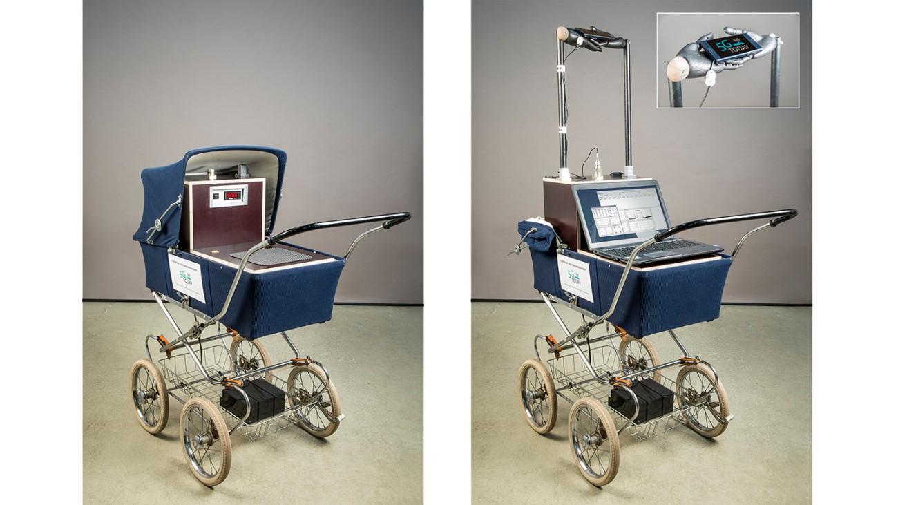 移动测量系统已经内置于婴儿车中,并且可以在公共场所使用。