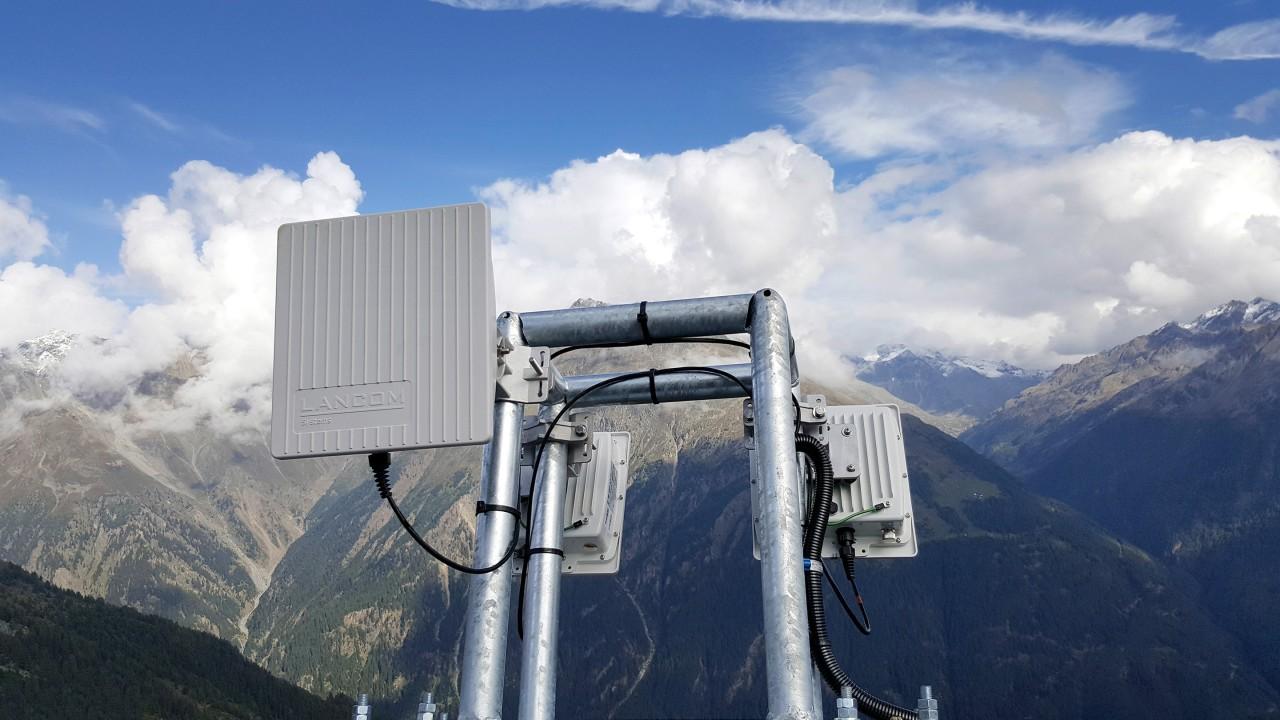 LANCOM 的接入点用于全球多个缆车项目,包括安第斯山脉和奥地利的 Giggijoch 贡多拉。