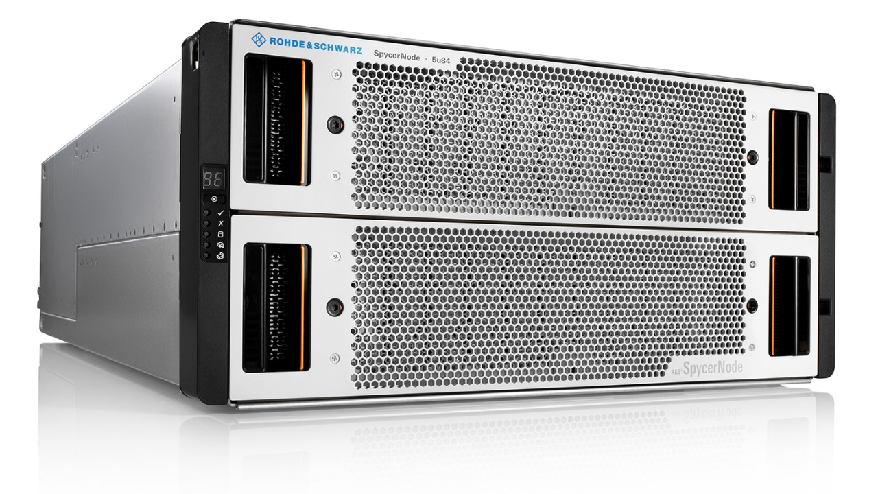 R&S®SpycerNode is the ideal solution for storing media in studio, post-production and archiving environments.