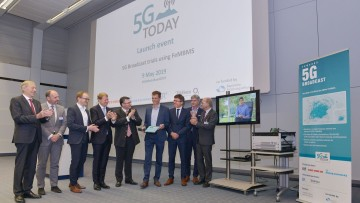 Kick-Off event at IRT: Official launch of the 5G TODAY Broadcasting field trial