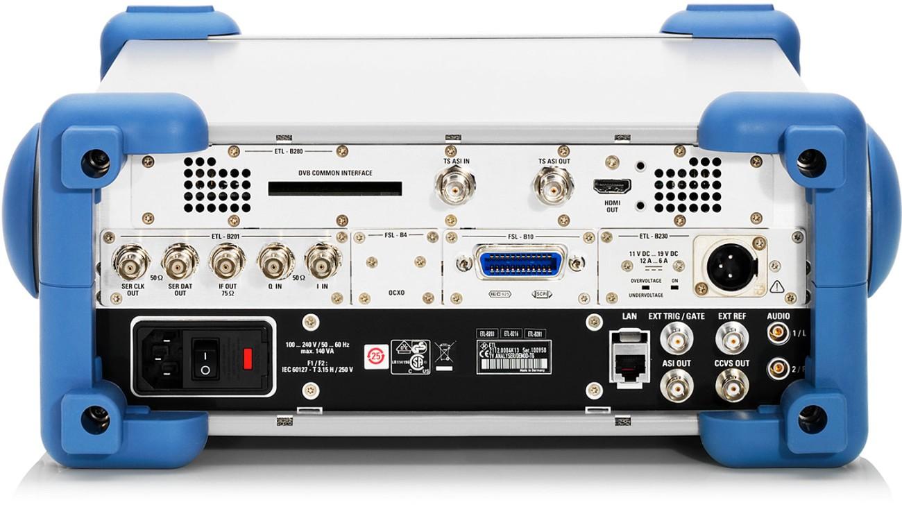 R&S®ETL TV Analyzer, rear view
