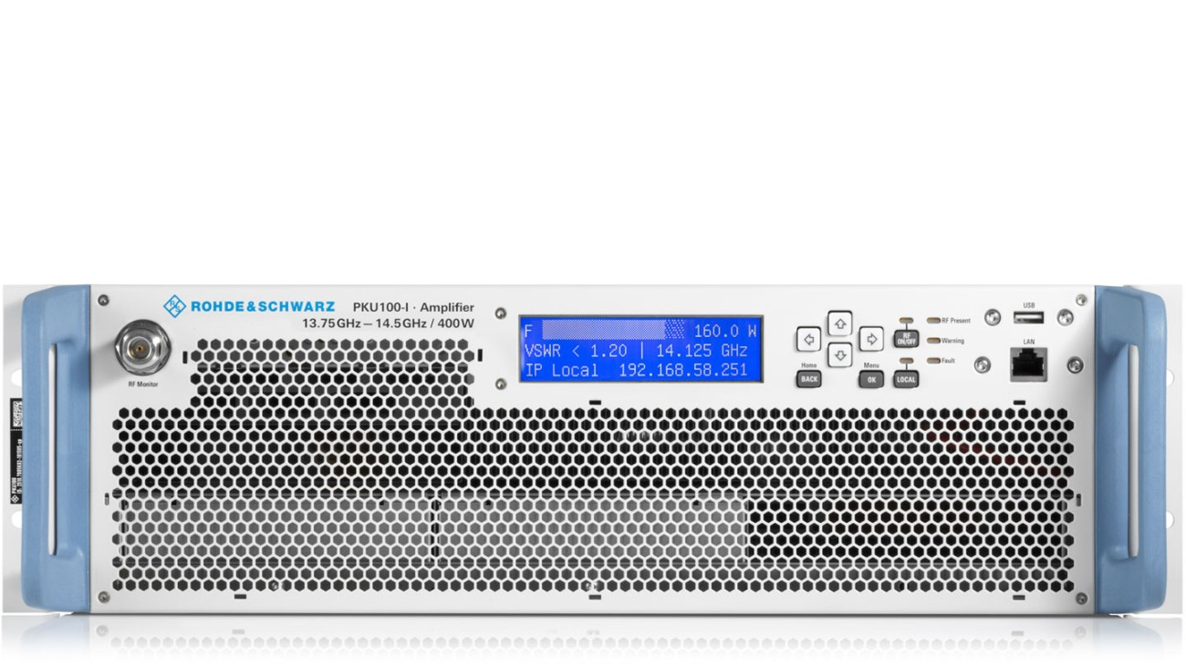 R&S®PKU100 solid-state power amplifier