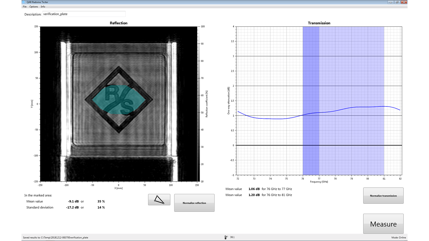 R&S®QAR-K10 Software for radome measurement