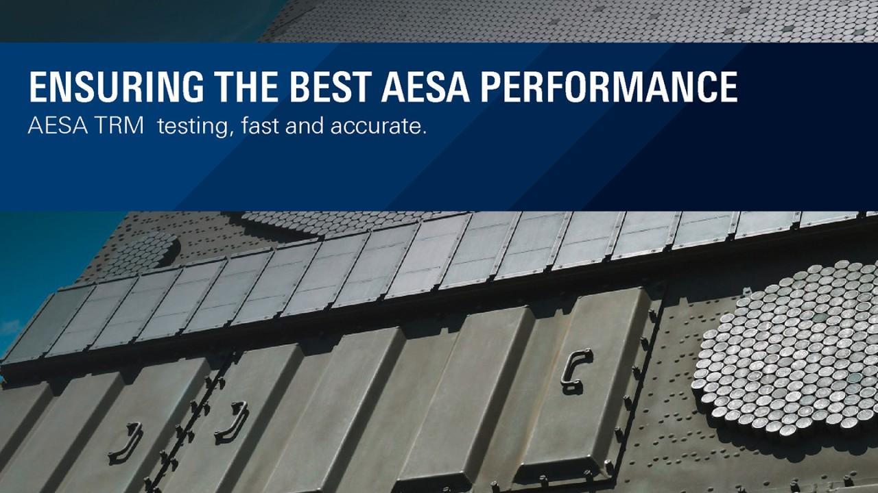 Ensuring the best AESA Performance