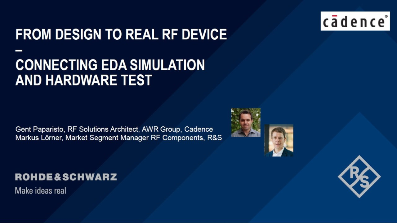 Webinar: From design to real RF device – connecting EDA simulation and hardware test